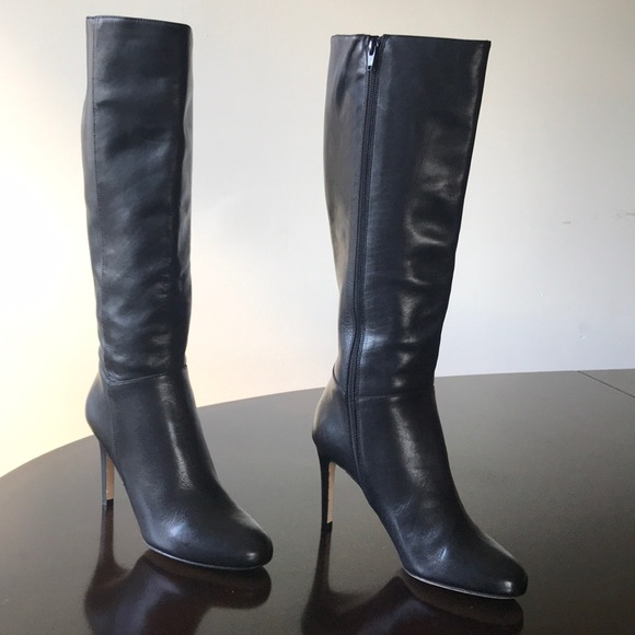 Saks Fifth Avenue Schuhes   schwarz Knee Hi High Stiefel Heel 9m Stiefel High   Poshmark 812077